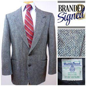Harris Tweed Vintage Men's  Blazer  40R 2-Button